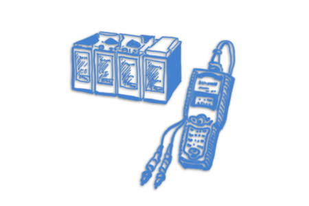Тестеры аккумуляторов ИБП 2В, 6В, 12В